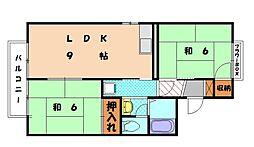 福岡県福岡市東区舞松原1丁目の賃貸アパートの間取り