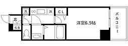 エス・キュート京町堀(旧プレサンス京町堀サウス) 10階1Kの間取り