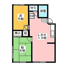 パークコーポ A棟[2階]の間取り