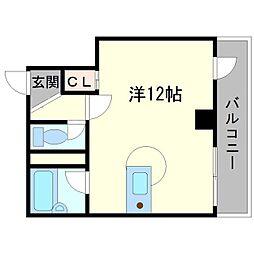 江坂東OMパレス[6階]の間取り