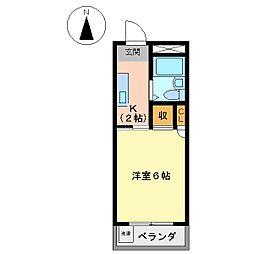 コーポM・A・S[3階]の間取り