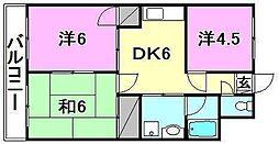 和泉パールハイツ[603 号室号室]の間取り