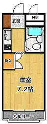ダンディライオン西宮[6階]の間取り