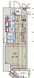 ララプレイス大阪福島ミラ 4階1Kの間取り