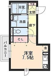 エスペランサ[3階]の間取り