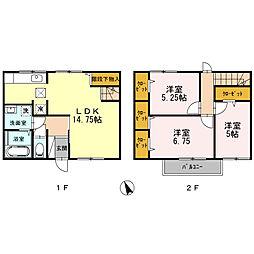 [タウンハウス] 兵庫県神戸市西区玉津町出合 の賃貸【兵庫県 / 神戸市西区】の間取り