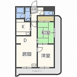 ローヤルハイツ東苗穂[2階]の間取り