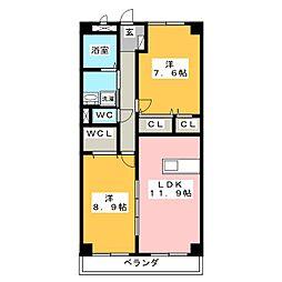 レトルダムール[2階]の間取り