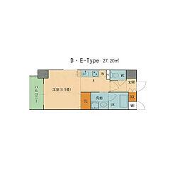 ST PLAZA AYUCHI[8階]の間取り