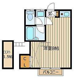 ハイツアサミ[2階]の間取り