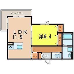 ターナーSumiyoshi[208号室]の間取り