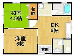 中島文化[2階]の間取り