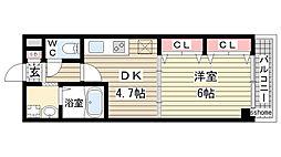 兵庫県神戸市東灘区御影中町6丁目の賃貸マンションの間取り
