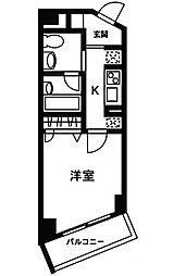 ロワジール三軒茶屋[4階]の間取り