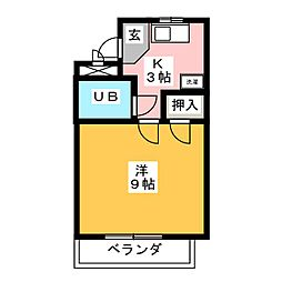 メゾンみゆき[3階]の間取り