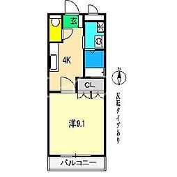 ボニータ[1階]の間取り