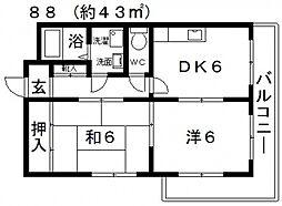リーアルマンション[202号室号室]の間取り