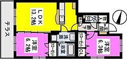 フローレ室見[1階]の間取り