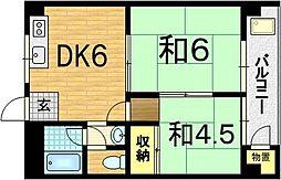 大宅マンション[2階]の間取り