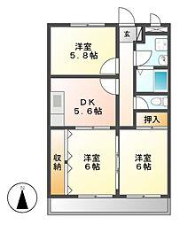 サザンウィンドパート3[1階]の間取り