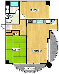 宮前平マンション[3階]の間取り