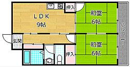 トモエマンション[1階]の間取り
