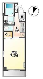 JR相模線 上溝駅 徒歩19分の賃貸マンション 4階1Kの間取り