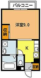 大阪府豊中市服部西町1丁目の賃貸マンションの間取り