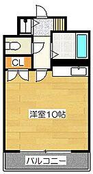 福岡県福岡市博多区博多駅東1丁目の賃貸マンションの間取り