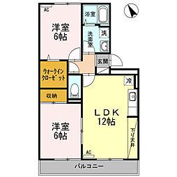 新潟県新潟市東区牡丹山6丁目の賃貸アパートの間取り