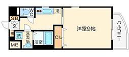 レジュールアッシュJUSO[6階]の間取り