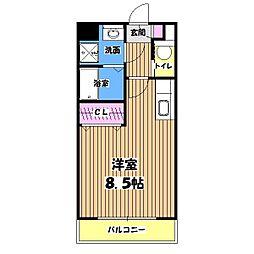 東京都青梅市東青梅4丁目の賃貸マンションの間取り