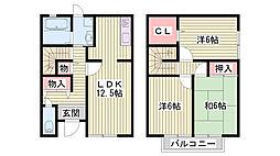 [一戸建] 兵庫県神戸市西区白水1丁目 の賃貸【兵庫県 / 神戸市西区】の間取り