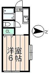 ハイツオーキッド[2階]の間取り