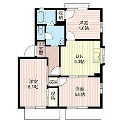 ガ−デンハウス・M[2階]の間取り