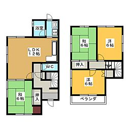 [一戸建] 岐阜県各務原市鵜沼台1丁目 の賃貸【/】の間取り