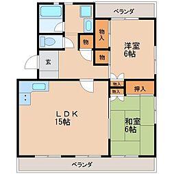 本町マンションII[3階]の間取り