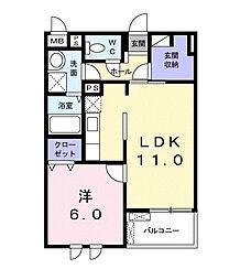 埼玉県草加市瀬崎7丁目の賃貸マンションの間取り