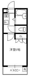 アメニティ南陽台[1階]の間取り