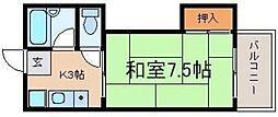 コーポサツキI[2階]の間取り