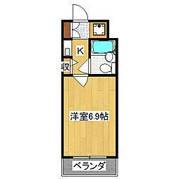 デトム・ワン西陣聚楽2[5階]の間取り