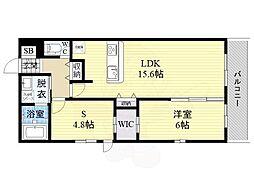 ナカノハイツパート8 2階1SLDKの間取り
