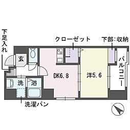 アブニール舞鶴II[7階]の間取り
