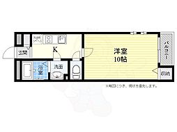 阪急京都本線 高槻市駅 徒歩13分の賃貸アパート 2階1Kの間取り