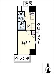 エルザビル名古屋駅前[7階]の間取り