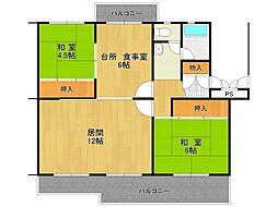 UR中山五月台住宅[12-101号室]の間取り