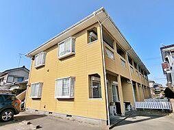 千葉県茂原市中の島町の賃貸アパートの外観
