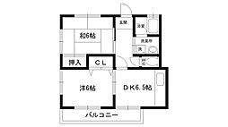 松本ハイツ[201号室]の間取り