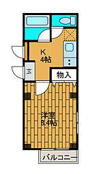 コスモ新百合ヶ丘[4階]の間取り