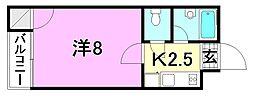 F愛光マンション[402 号室号室]の間取り
